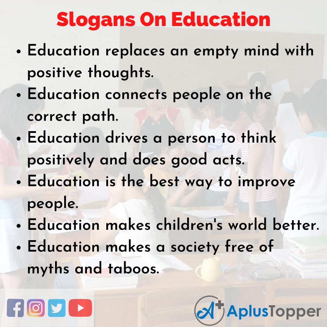 Catchy Slogans On Education