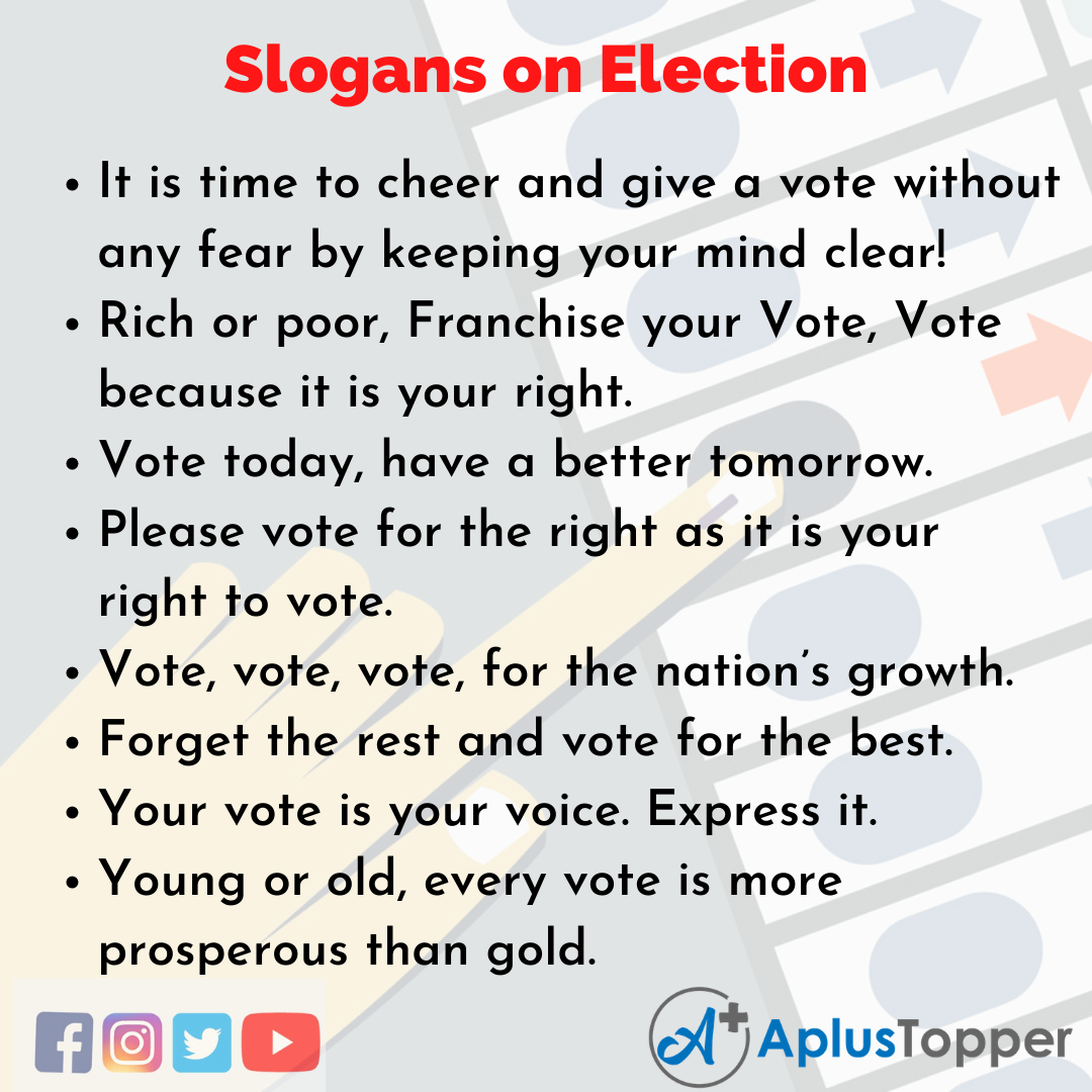 Catchy Slogans on Election