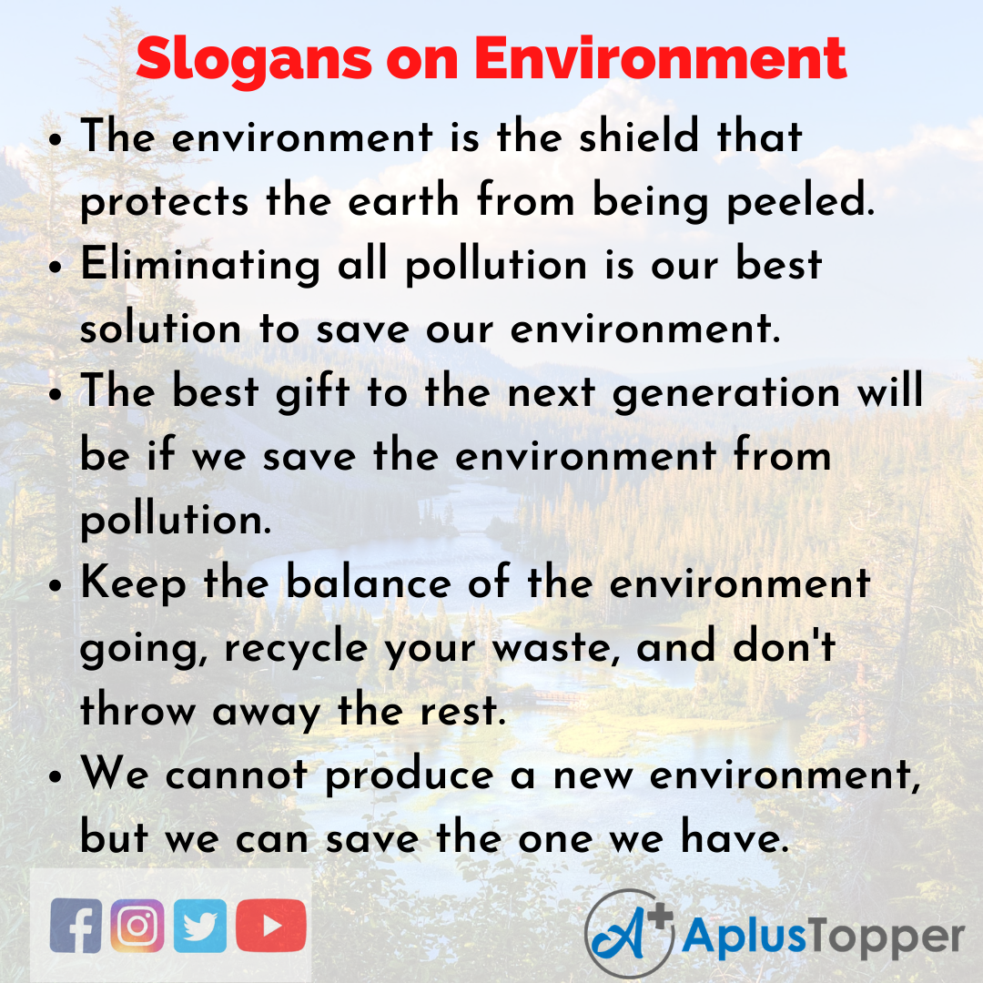 Catchy Slogans on Environment