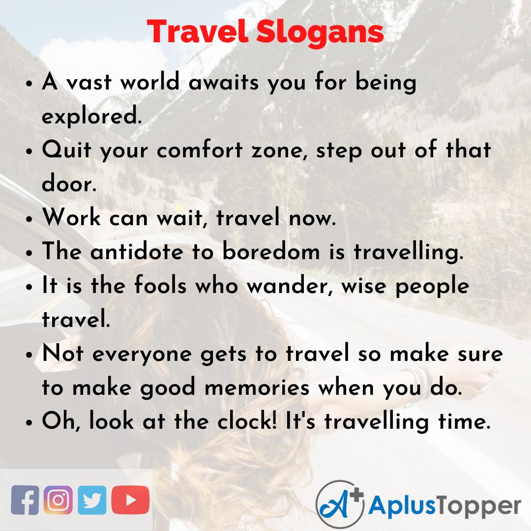 Catchy Slogans on Travel