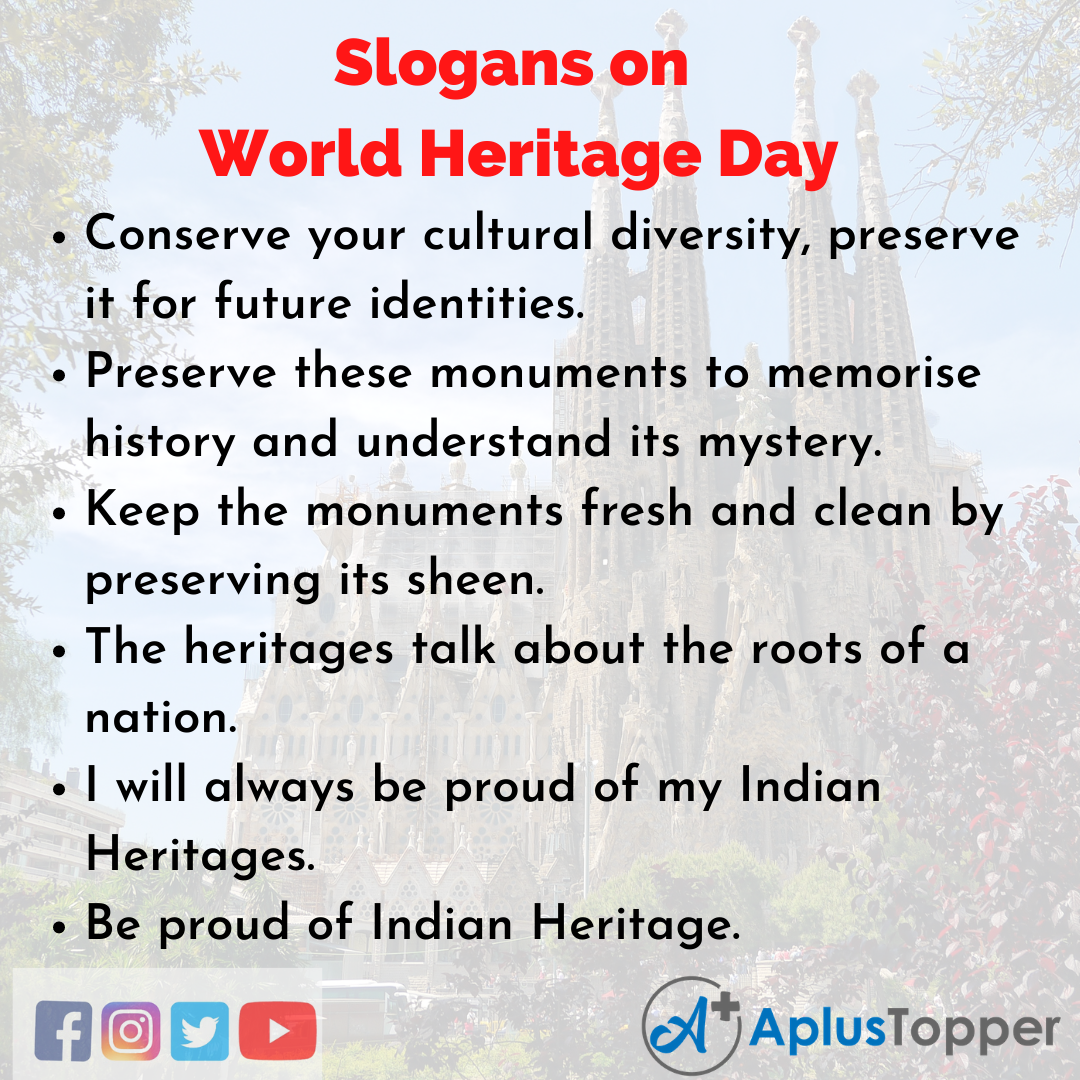Catchy Slogans on World Heritage Day