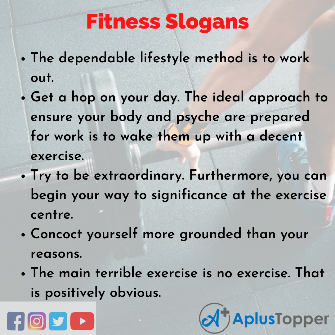 Fitness Slogans in English