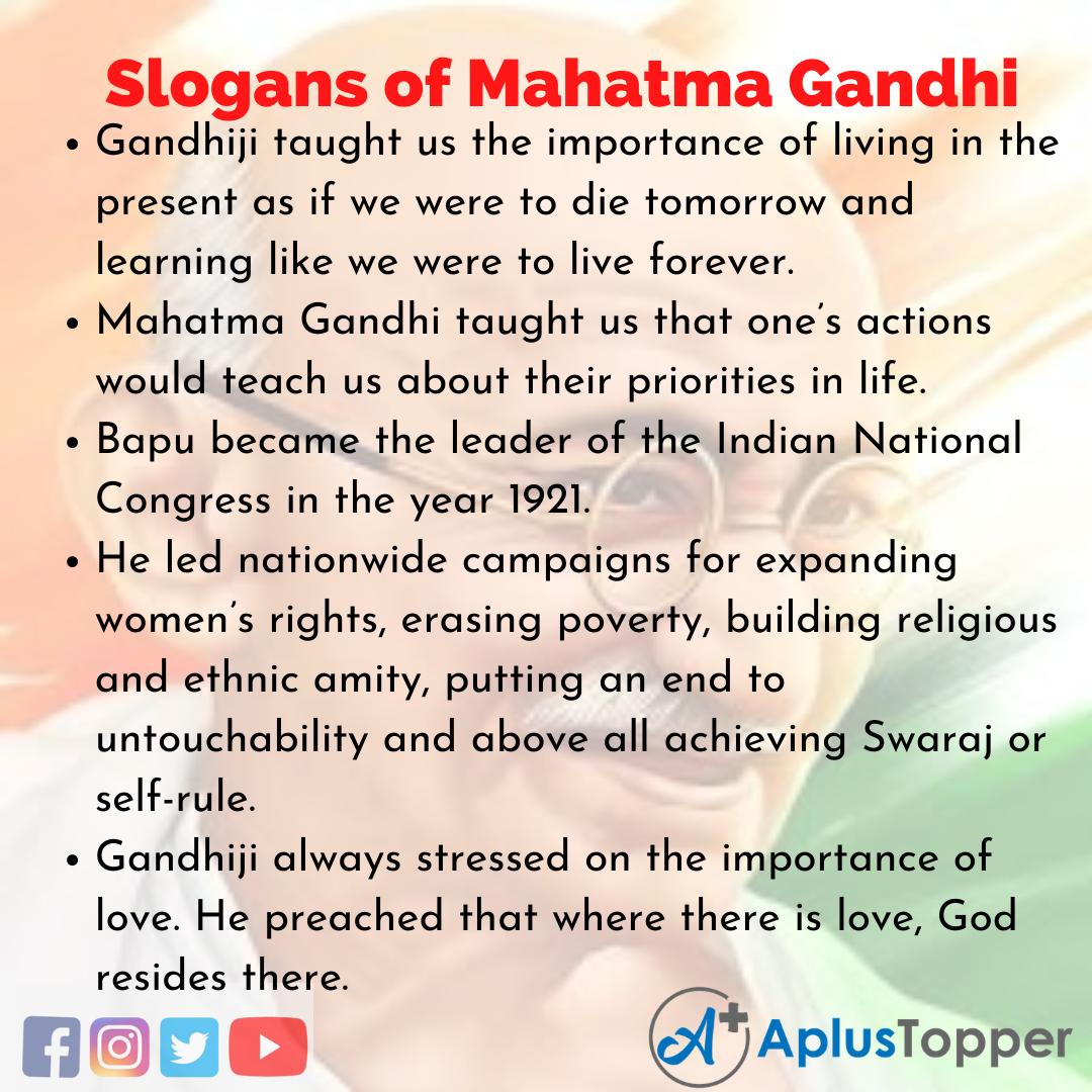 Mahatma Gandhi Slogans