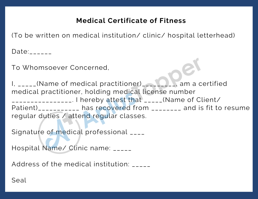 Medical Certificate Purposes Format Guidelines And How To Write A Medical Certificate A Plus Topper