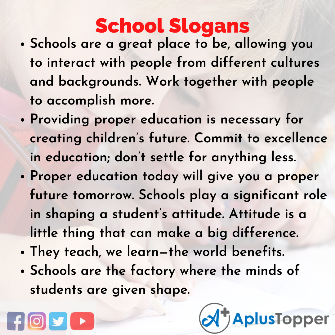 School Slogans in English