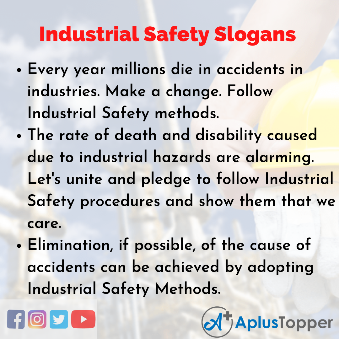 Slogan on Industrial Safety in English