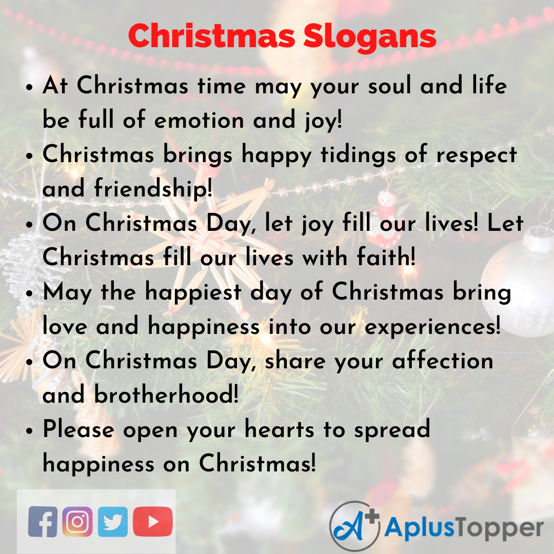 Slogans on Christmas in English