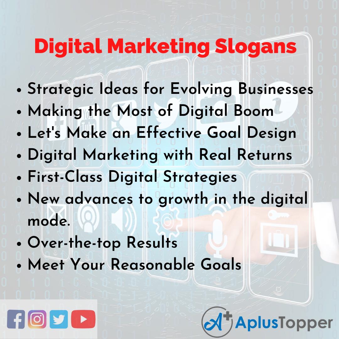 Slogans on Digital Marketing in English