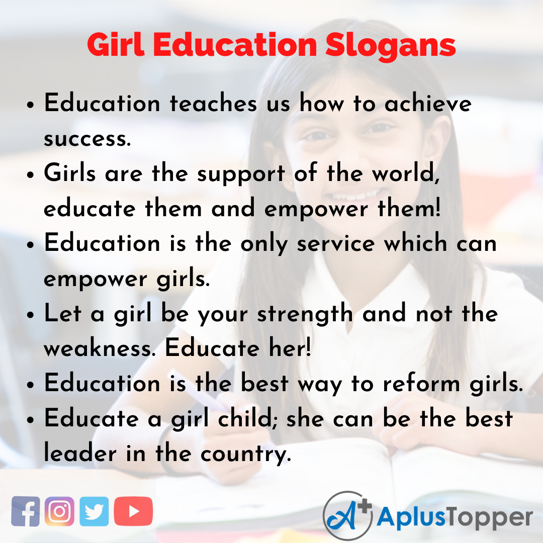 Slogans on Girl Education in English