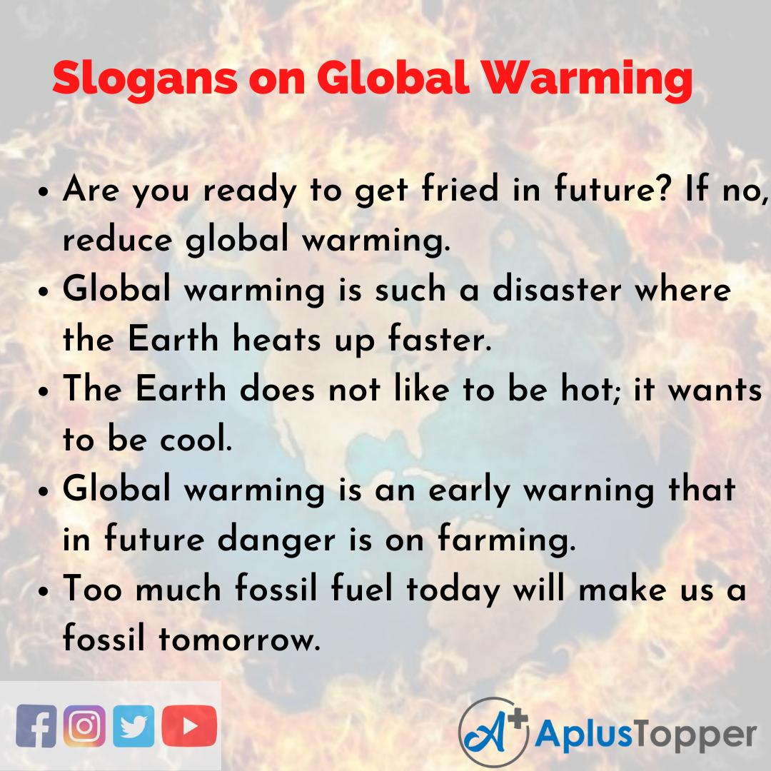 Slogans on Global Warming in English