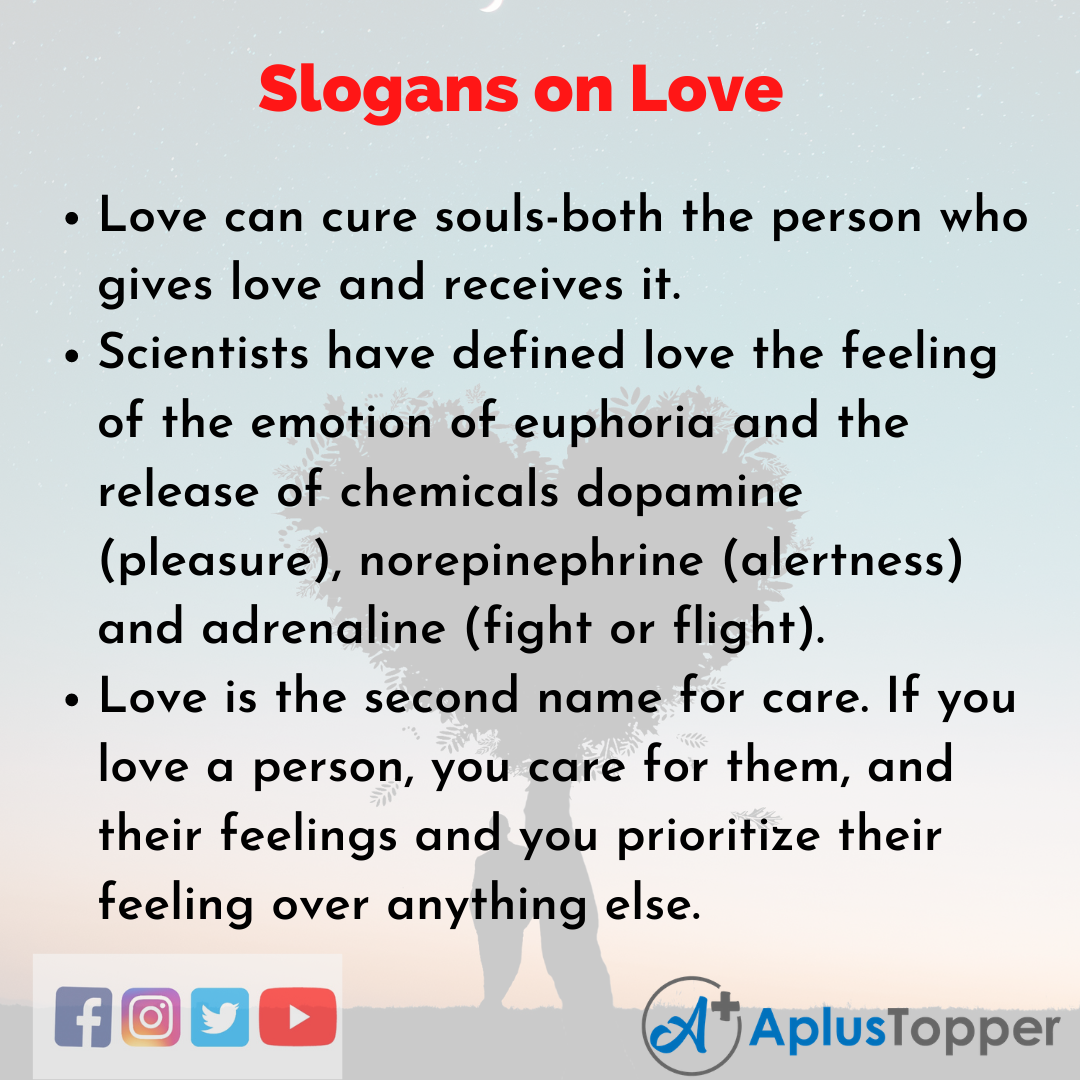 Slogans on Love in English