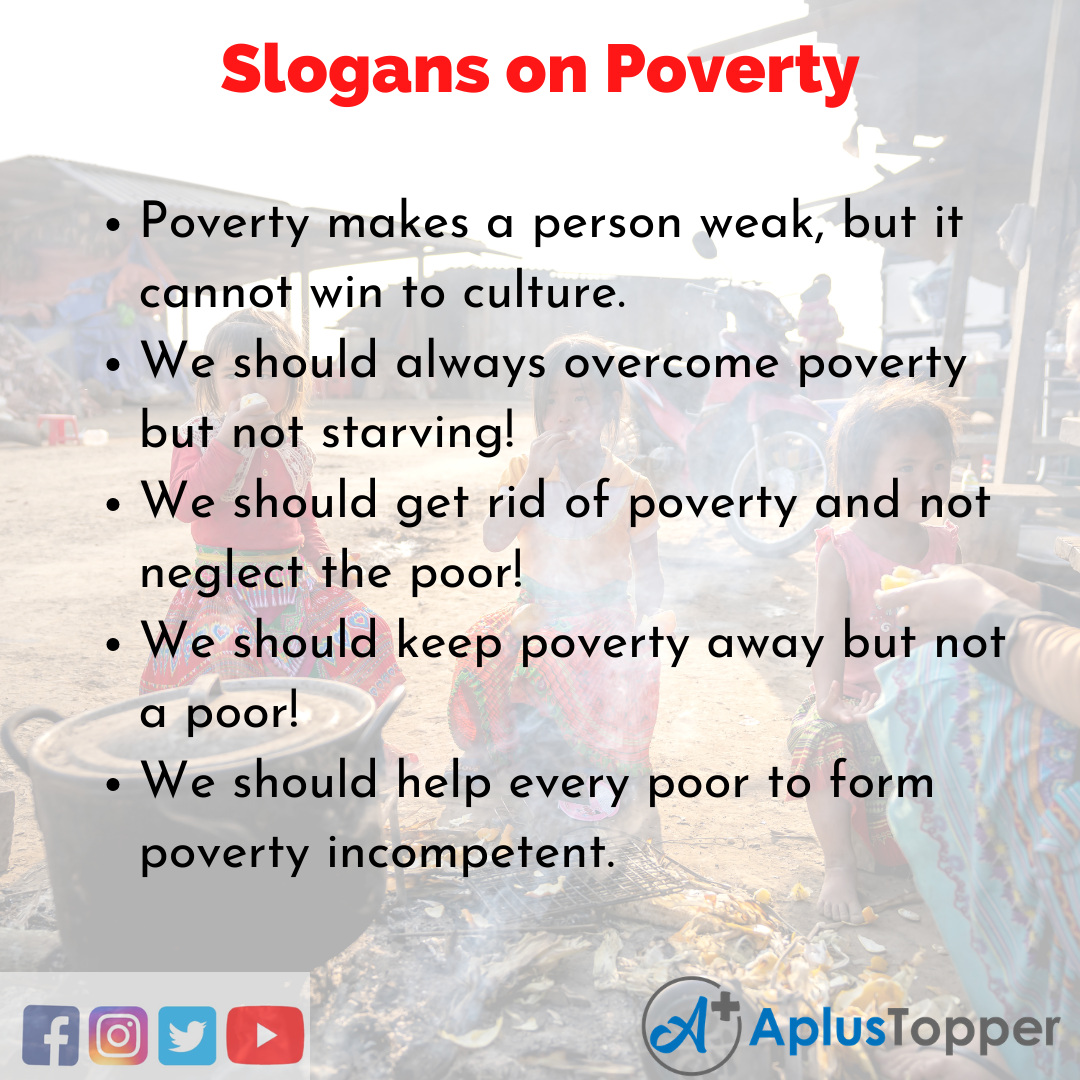 Slogans on Poverty in English
