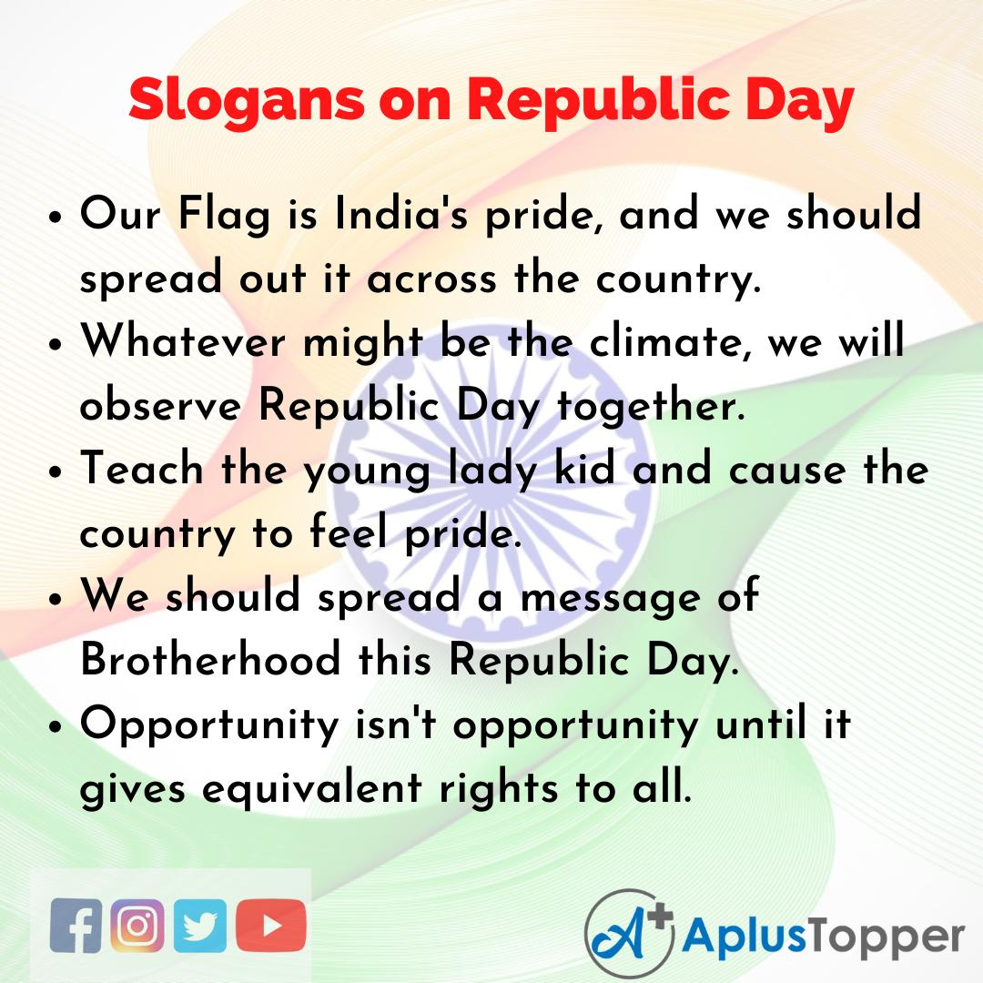 Slogans on Republic Day in English