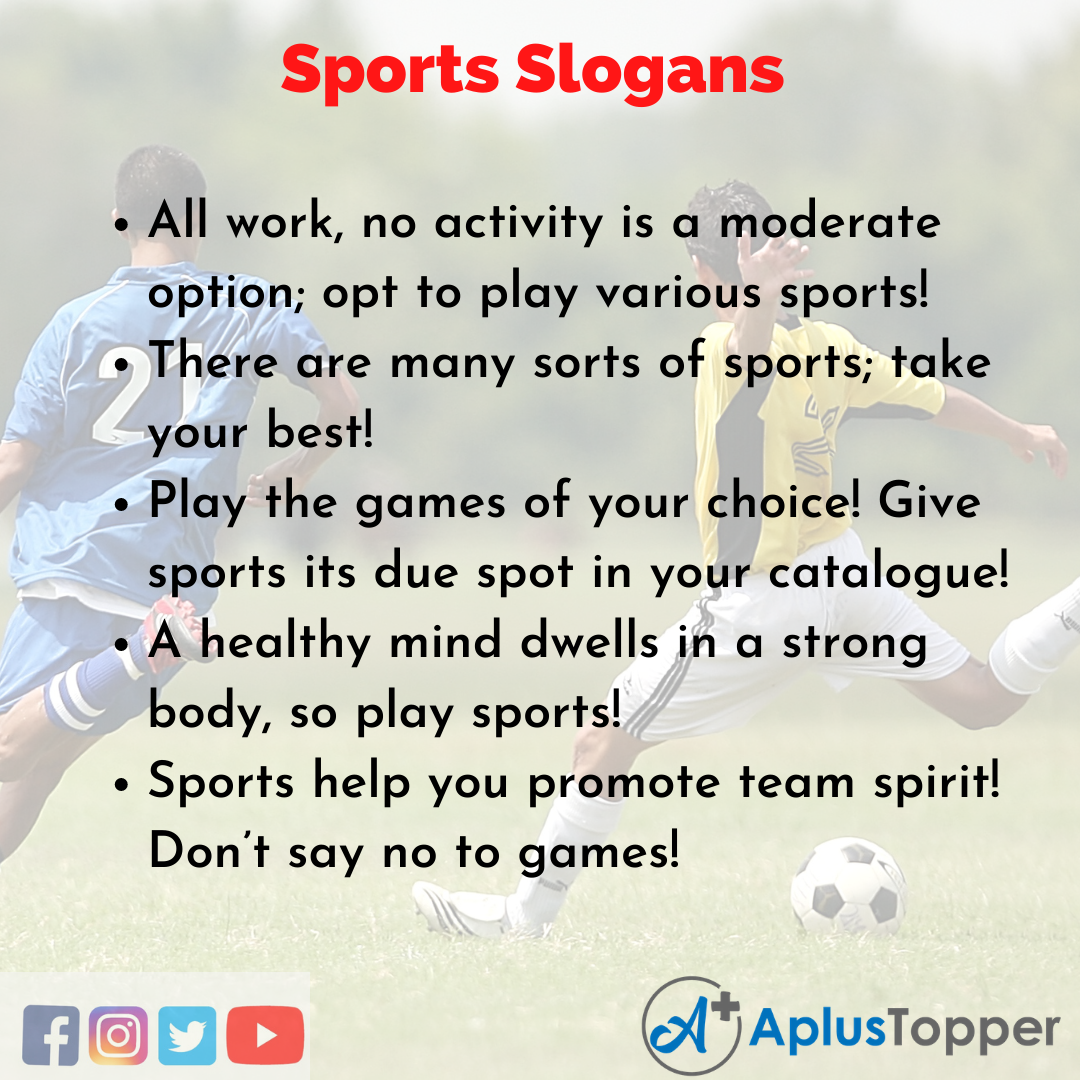 Slogans on Sports in English