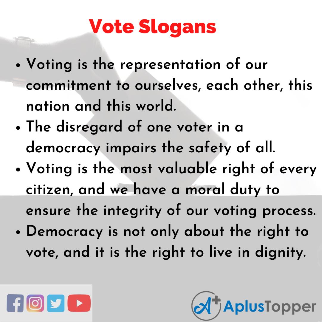 Slogans on Vote in English