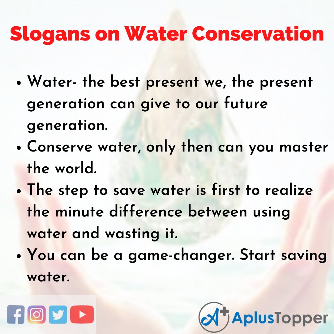 Slogans on Water Conservation in English