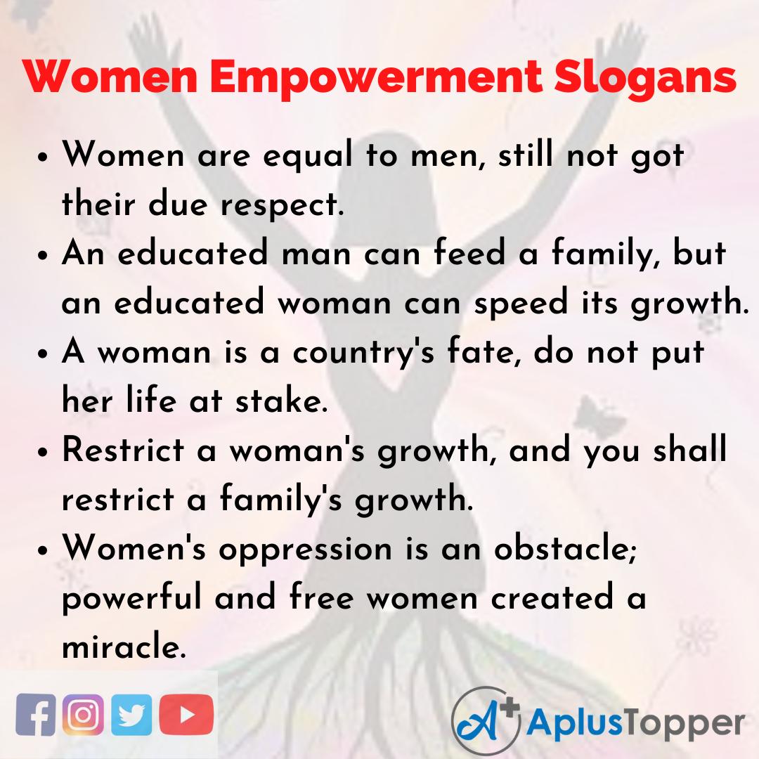 Slogans on Women Empowerment in English