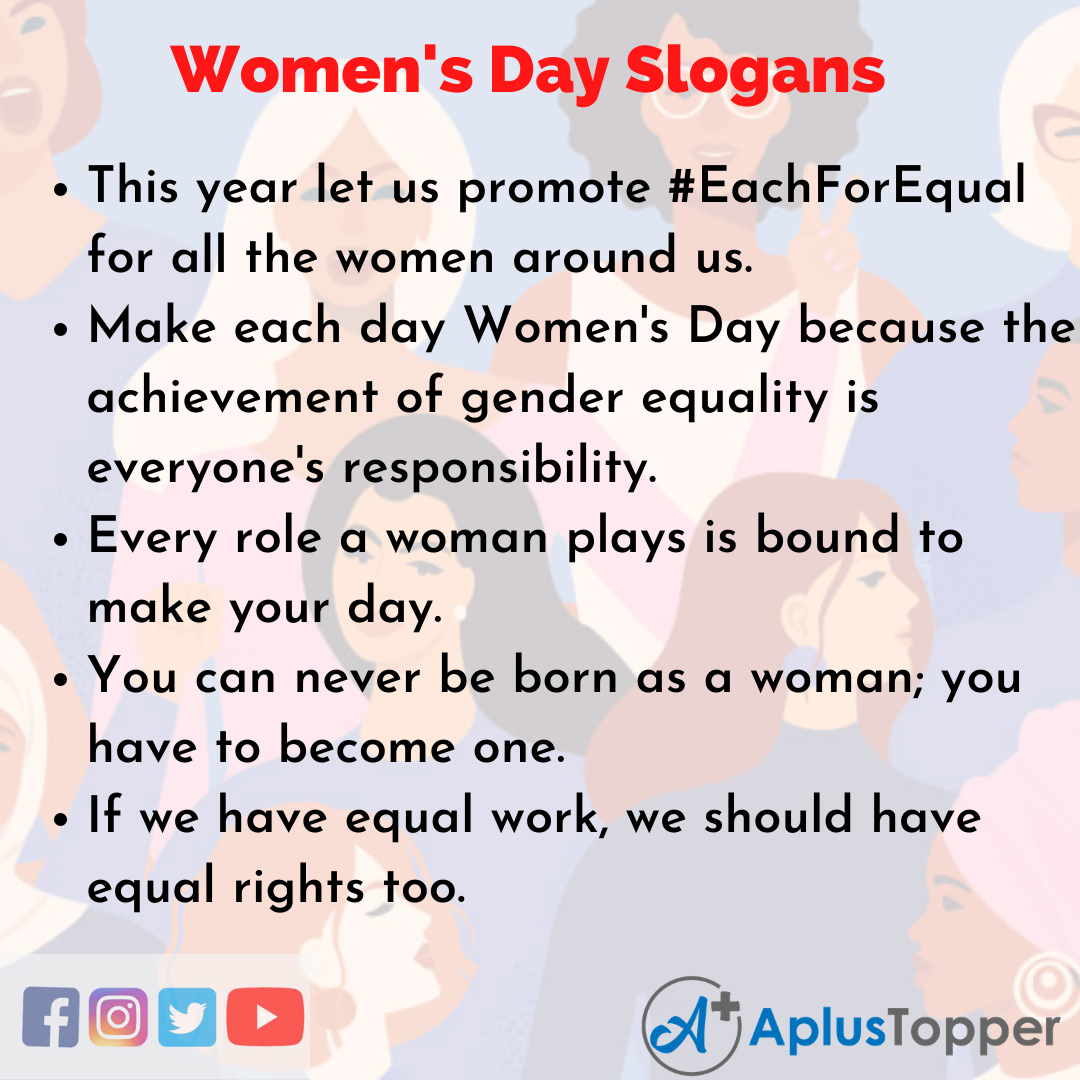 Slogans on Women's Day in English