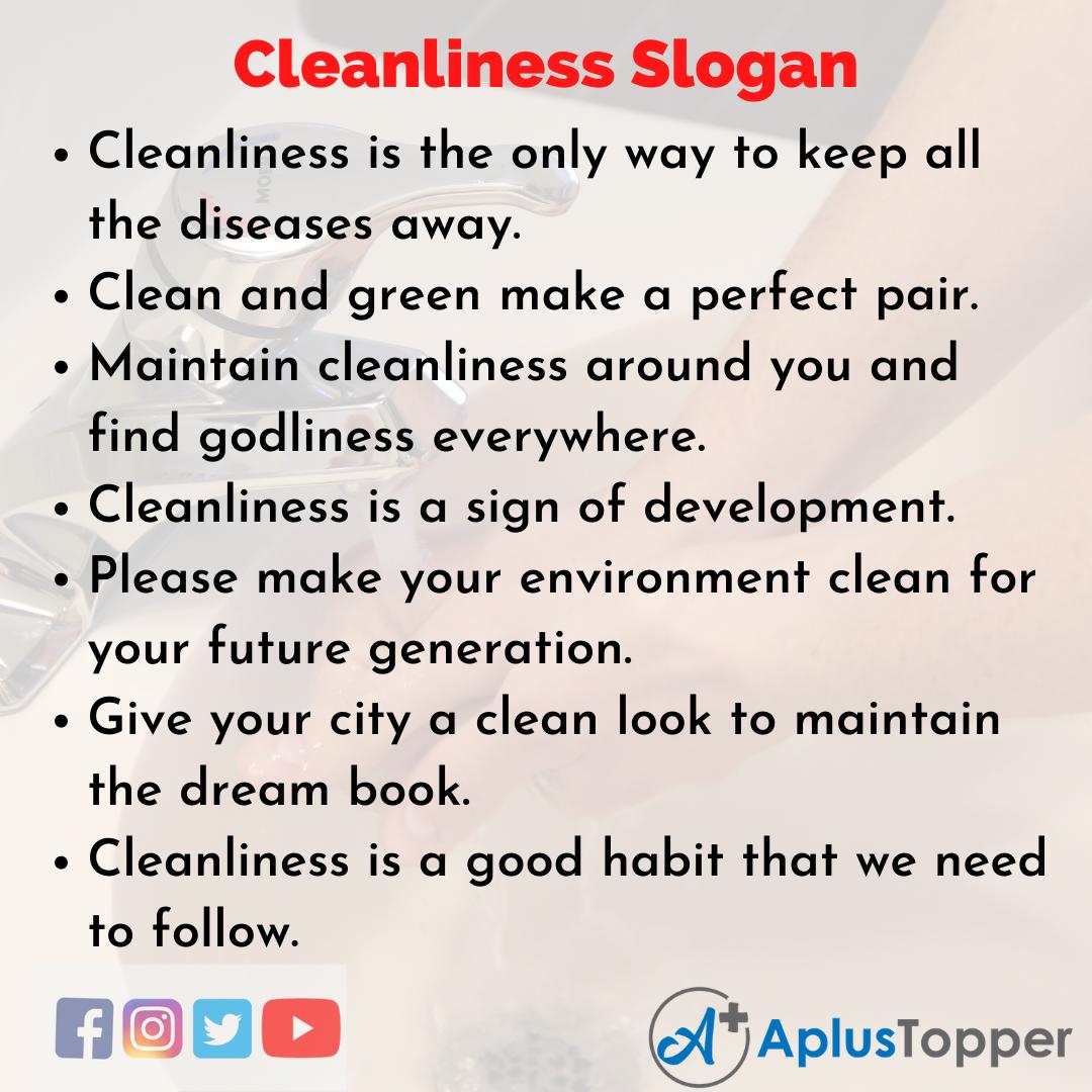 Einzigartige und eingängige Slogans über Sauberkeit