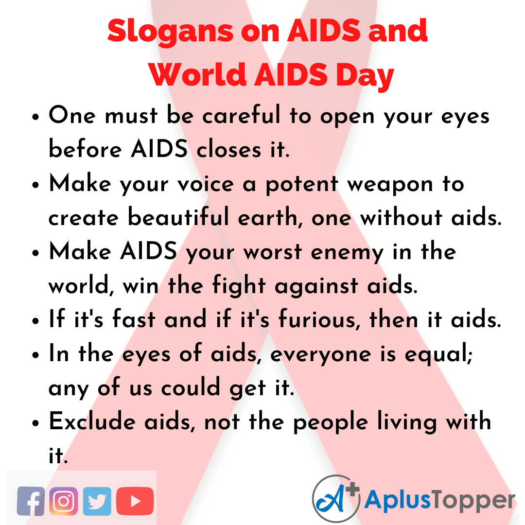 Unique And Catchy Slogans on AIDS and World Aids Day
