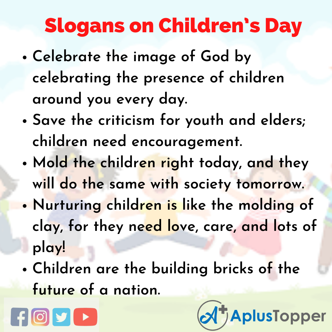 Unique And Catchy Slogans on Children's Day