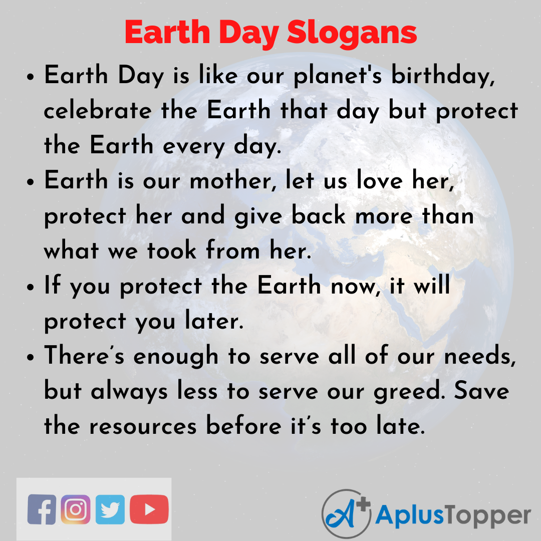 Unique and Catchy Slogans On Earth Day