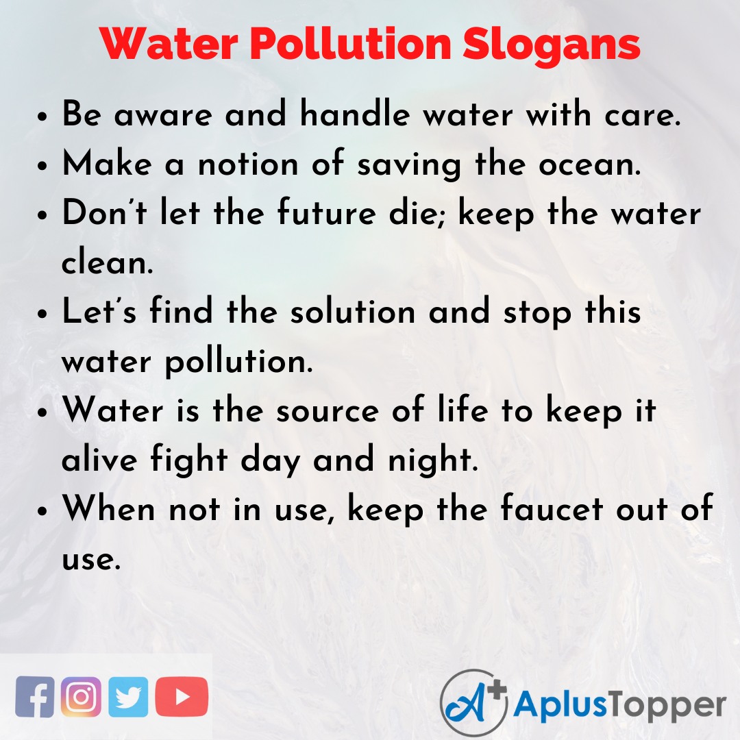 Unique and Catchy Water Pollution Slogan