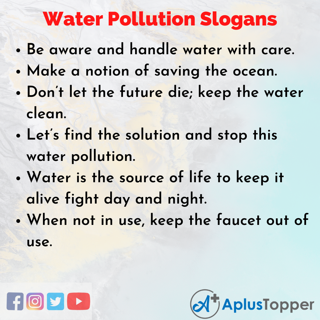 Unique and Catchy Water Pollution Slogans