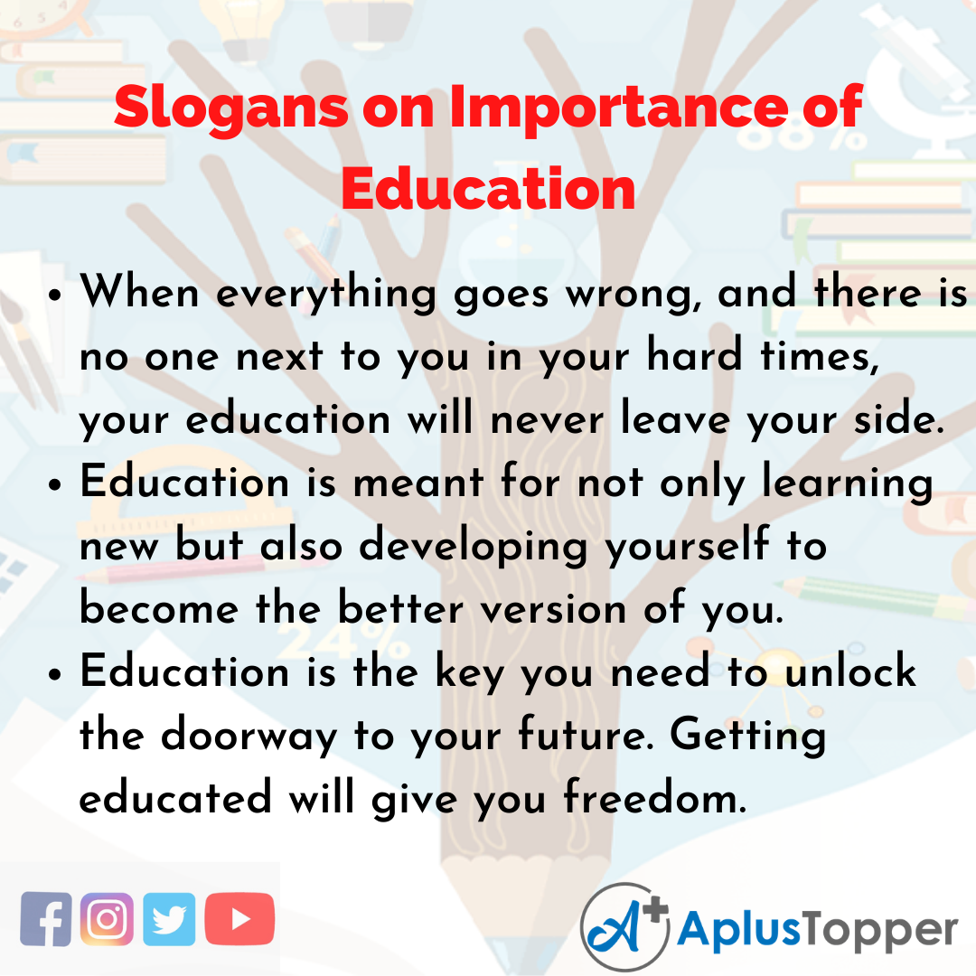 5 Slogans on Importance of Education in English