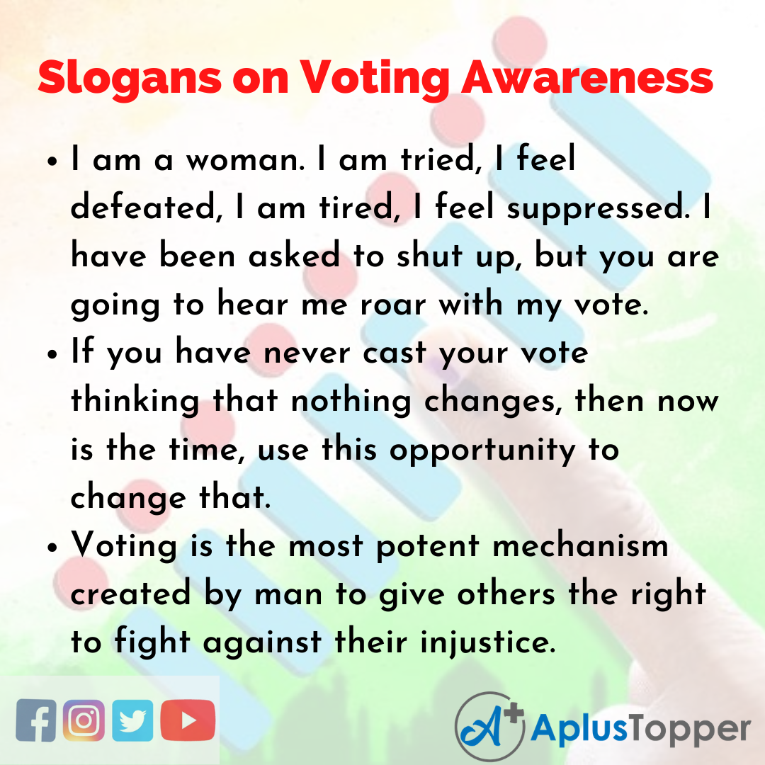 5 Slogans on Voting Awareness in English
