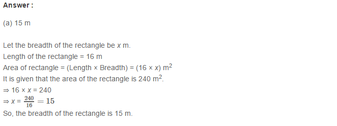 Concepts of Perimeter and Area RS Aggarwal Class 6 Maths Solutions CCE Test Paper 11.1