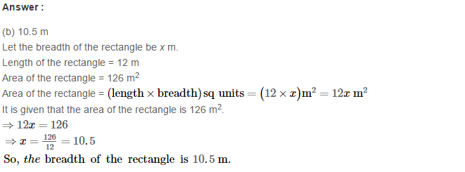 Concepts of Perimeter and Area RS Aggarwal Class 6 Maths Solutions CCE Test Paper 14.1