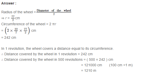 Concepts of Perimeter and Area RS Aggarwal Class 6 Maths Solutions CCE Test Paper 7.1