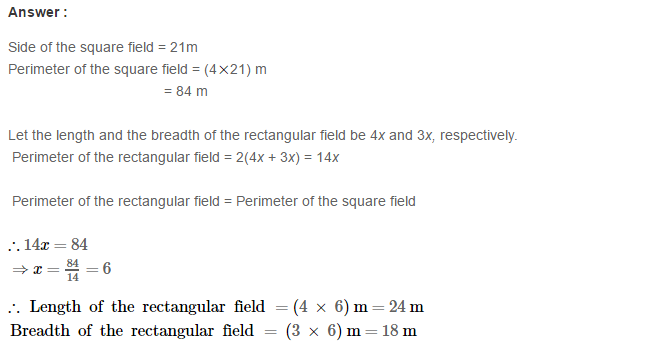 Concepts of Perimeter and Area RS Aggarwal Class 6 Maths Solutions Ex 21A 8.1