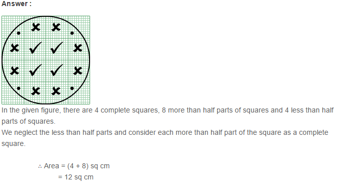 Concepts of Perimeter and Area RS Aggarwal Class 6 Maths Solutions Ex 21C 7.1