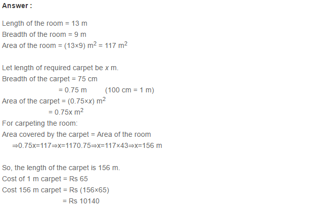Concepts of Perimeter and Area RS Aggarwal Class 6 Maths Solutions Ex 21D 10.1