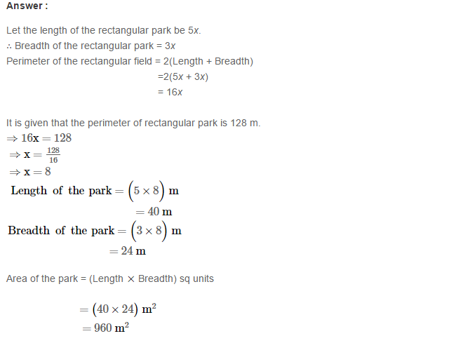 Concepts of Perimeter and Area RS Aggarwal Class 6 Maths Solutions Ex 21D 11.1