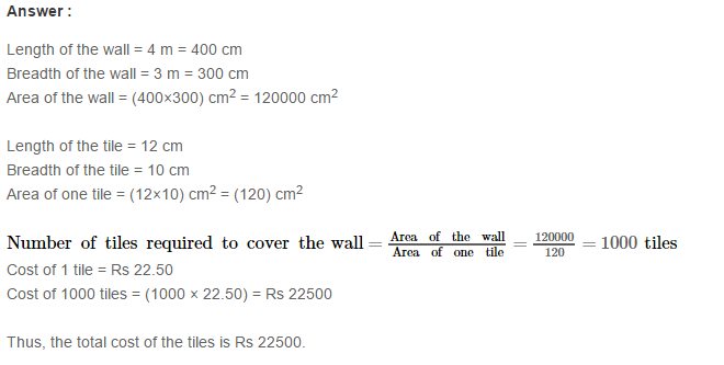 Concepts of Perimeter and Area RS Aggarwal Class 6 Maths Solutions Ex 21D 15.1
