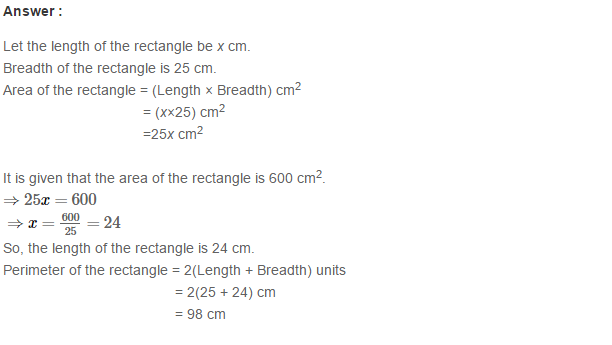 Concepts of Perimeter and Area RS Aggarwal Class 6 Maths Solutions Ex 21D 16.1