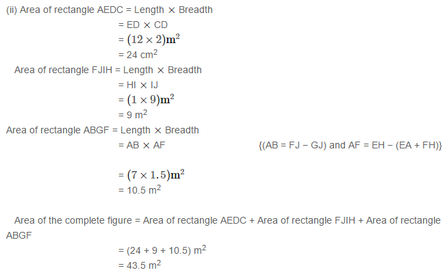 Concepts of Perimeter and Area RS Aggarwal Class 6 Maths Solutions Ex 21D 18.2