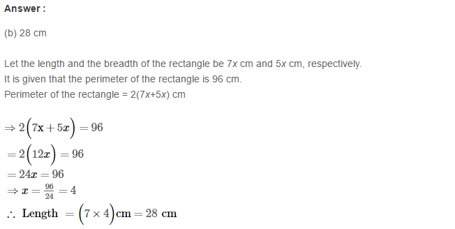 Concepts of Perimeter and Area RS Aggarwal Class 6 Maths Solutions Exercise 21E 1.1