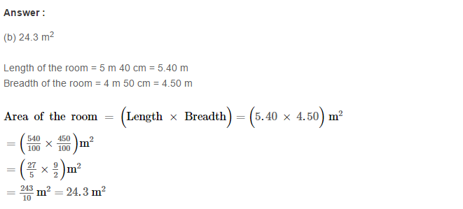 Concepts of Perimeter and Area RS Aggarwal Class 6 Maths Solutions Exercise 21E 14.1