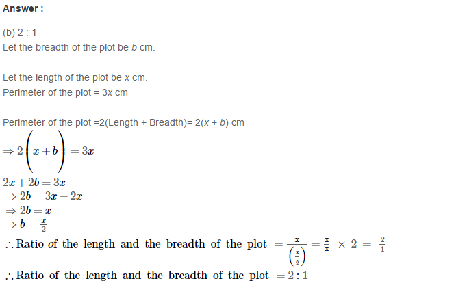 Concepts of Perimeter and Area RS Aggarwal Class 6 Maths Solutions Exercise 21E 7.1