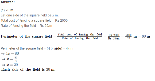 Concepts of Perimeter and Area RS Aggarwal Class 6 Maths Solutions Exercise 21E 9.1