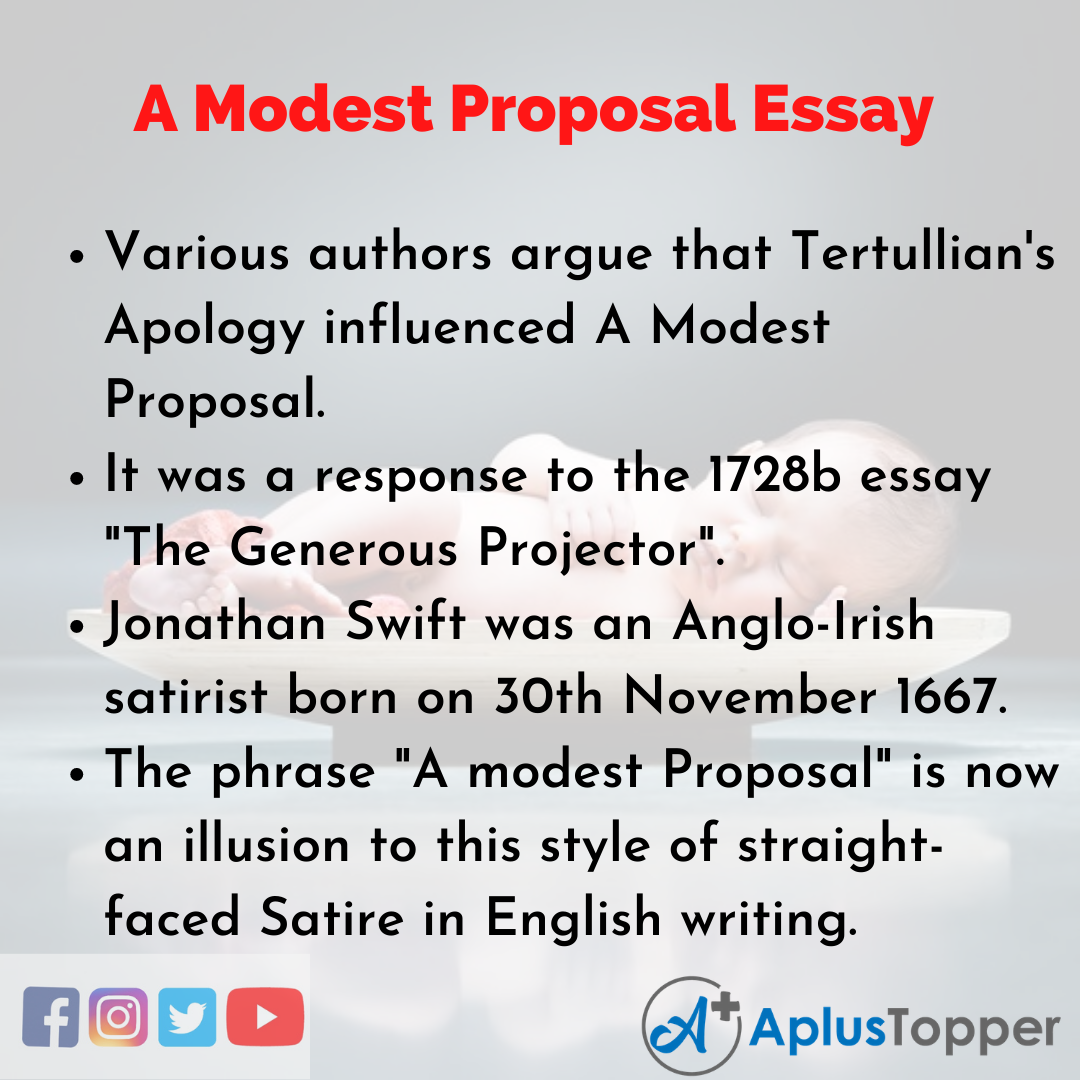 Essay about A Modest Proposal