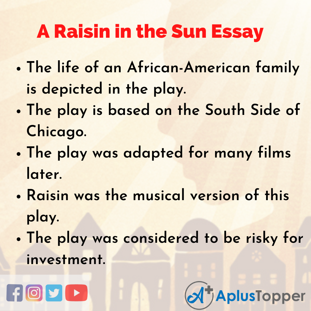 Essay about A Raisin in the Sun