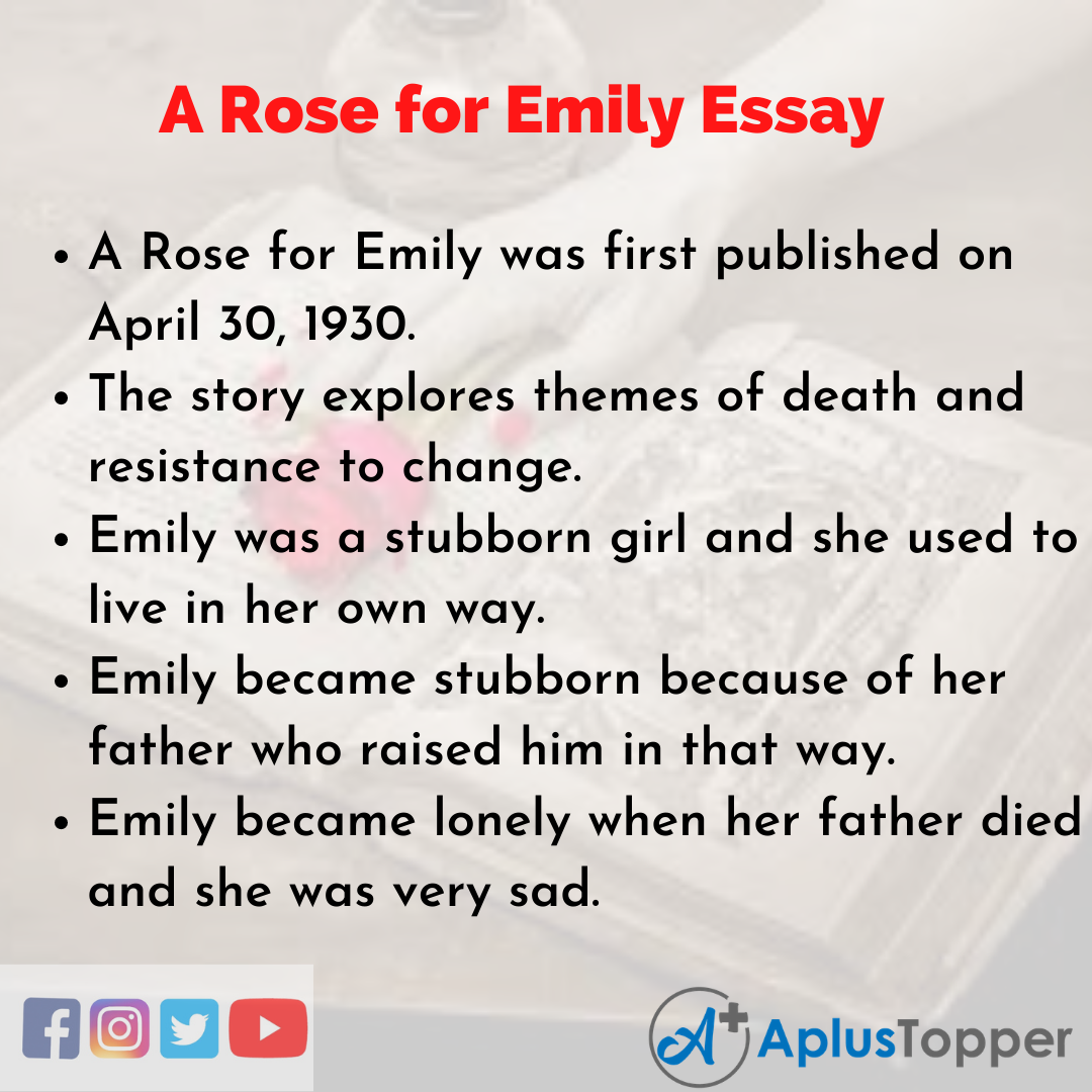 Essay about A Rose for Emily