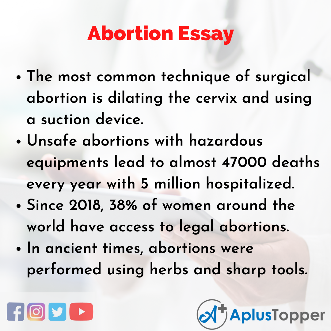 Essay about Abortion