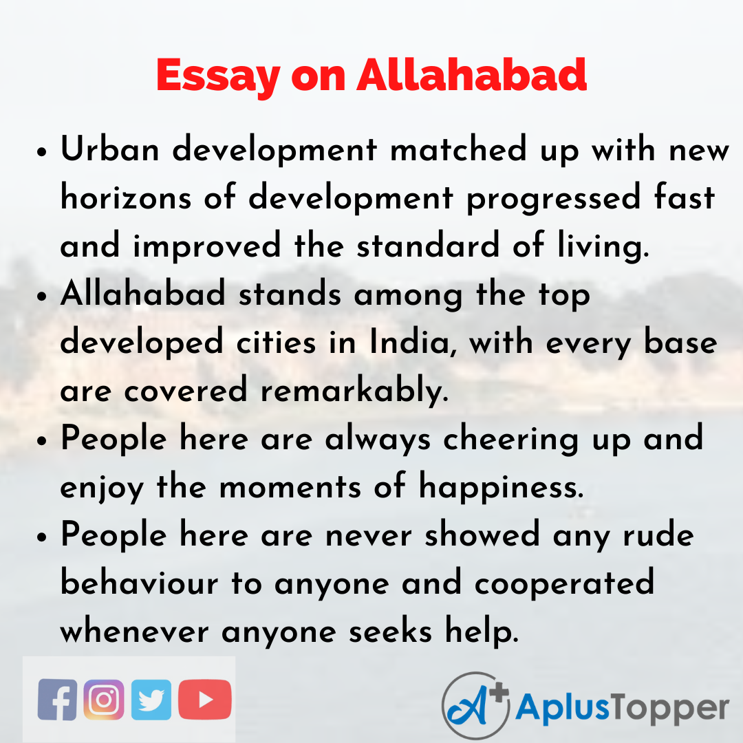 Essay about Allahabad