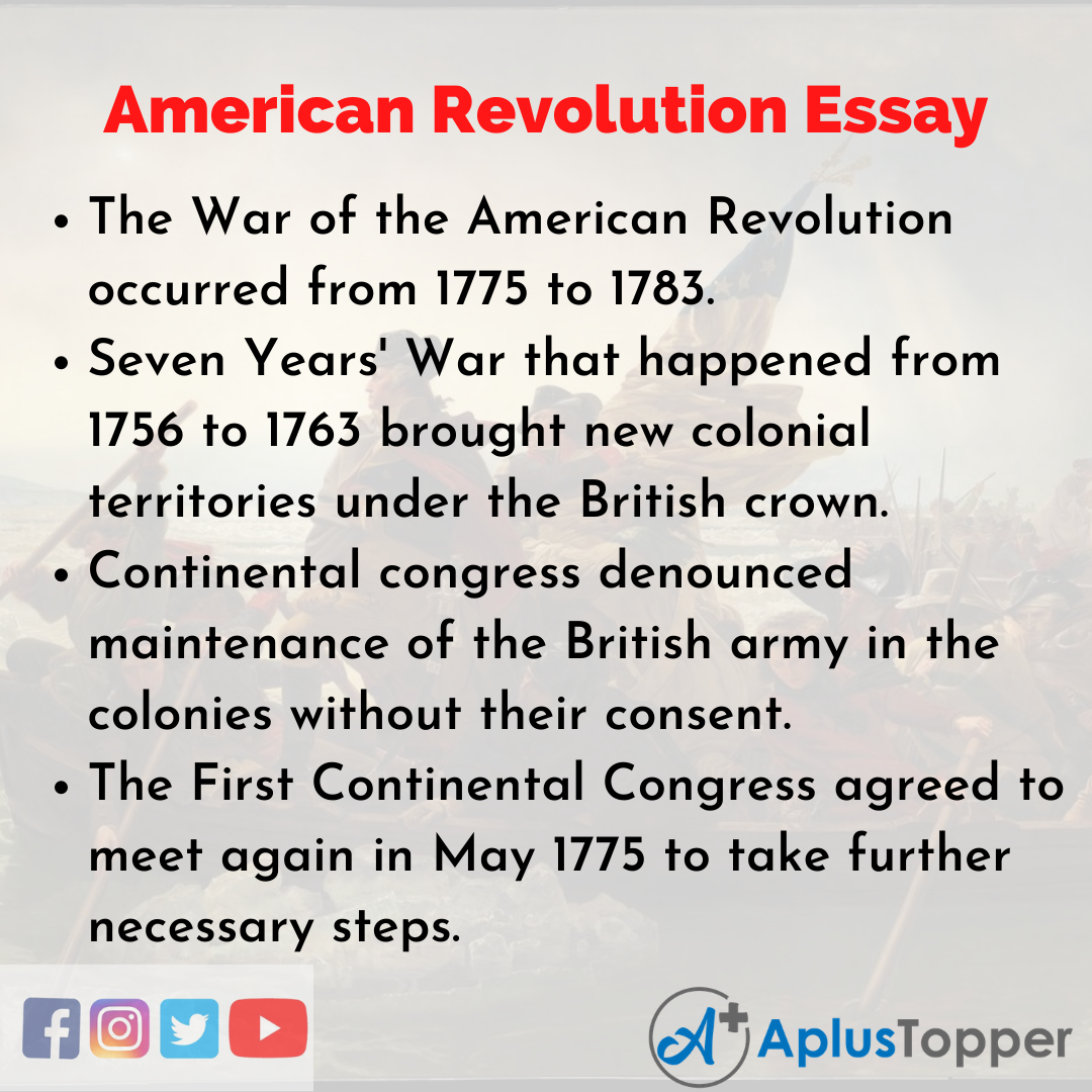 Essay about American Revolution